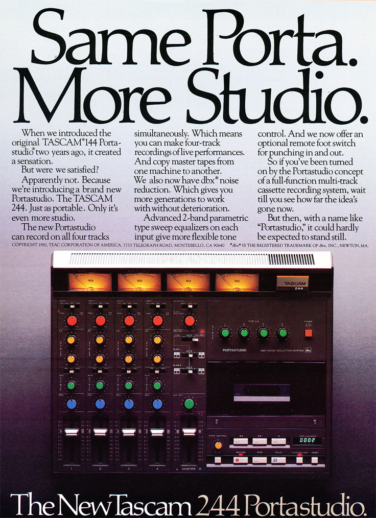 1982 ad for the Teac Porta Studio 144 in the Reel2ReelTexas.com vintage recording collection' vintage recording collection