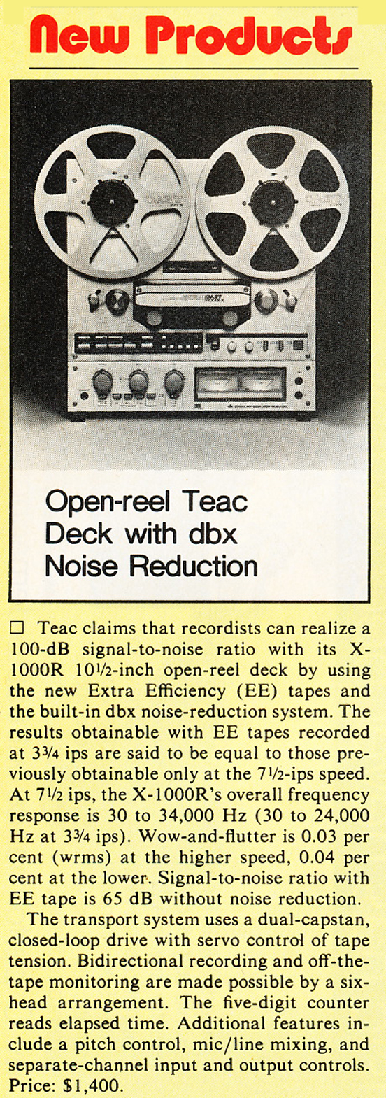 Teax X-1000R reel to reel tape recorder in the Reel2ReelTexas.com vintage recording collection