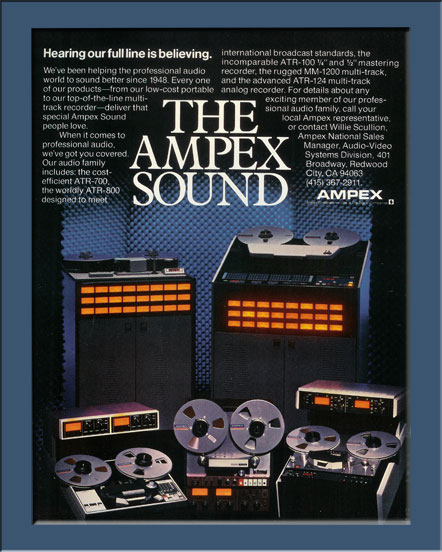1983 ad for the Ampex ATR-800 professional reel to reel tape recorder in the Reel2ReelTexas.com vintage reel tape recorder recording collection
