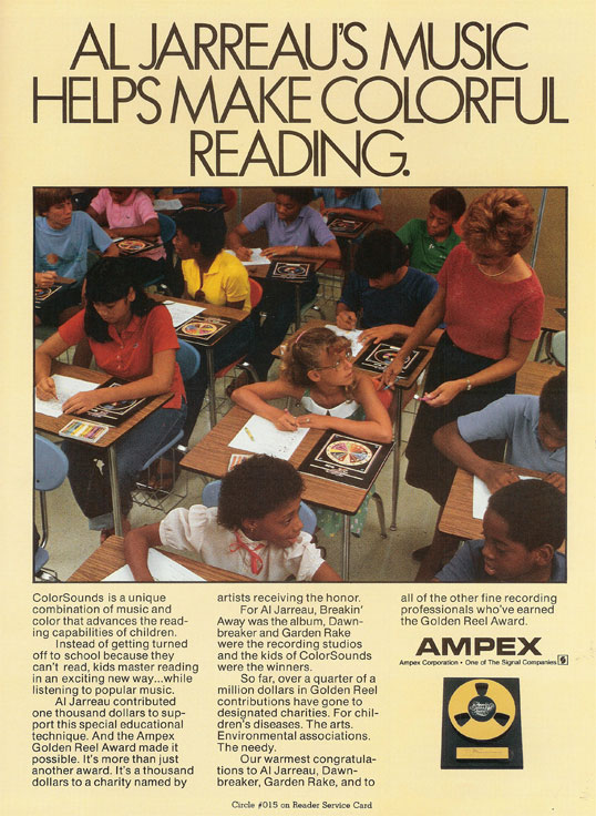 1983 ad for the Ampex Gold Reel award in the Reel2ReelTexas.com vintage recording collection in the Reel2ReelTexas.com vintage recording collection