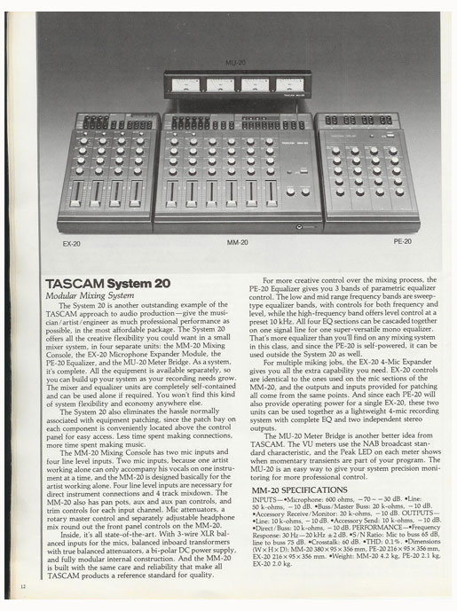 1983 Tascam brochure pages in the Reel2ReelTexas.com vintage recording collection vintage reel to reel tape recorder documentation collection