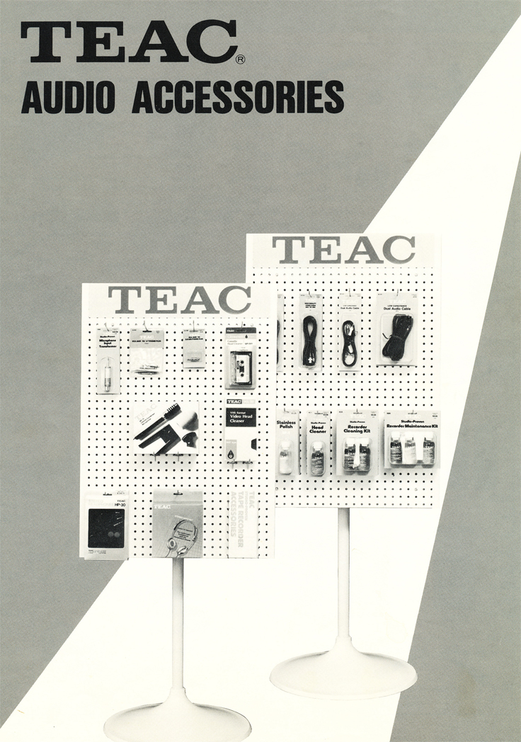 1983 Teac Accessories catalog in the Reel2ReelTexas.com vintage recording collection' vintage tape recording collection