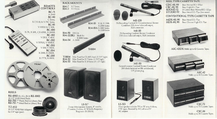 1979 ad for the Teac accessories in the Reel2ReelTexas.com vintage recording collection