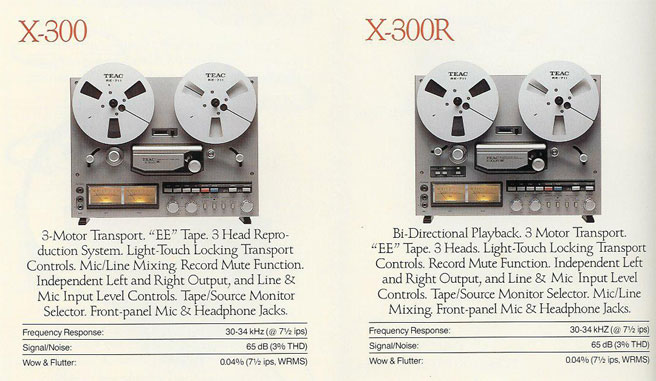 1979 ad for the Teac X300 & X300R reel tape recorders  in the Reel2ReelTexas.com vintage recording collection