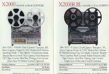 1984 ad for Teac X-200 and X-2000R-BL reel to reel tape recorder in the Reel2ReelTexas.com vintage recording collection