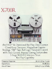 1984 ad for the Teac X-700R reel to reel tape recorder in the Reel2ReelTexas.com vintage reel tape recorder recording collection Museum