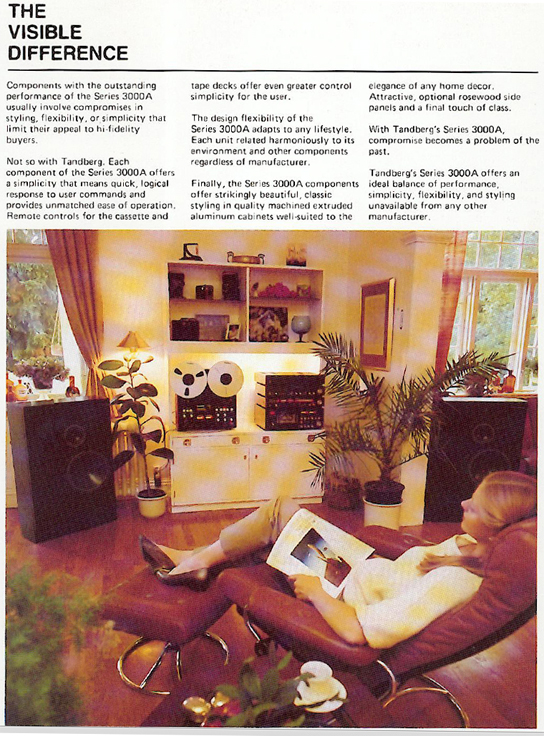 1985 ad for Tandberg reel to reel tape recorders in the Reel2ReelTexas.com vintage recording collection