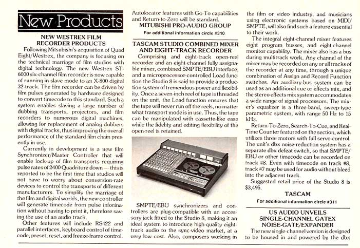 "1985 Tascam 388 8 track 1/4"" recorder mixer review  in the Reel2ReelTexas.com vintage recording collection"
