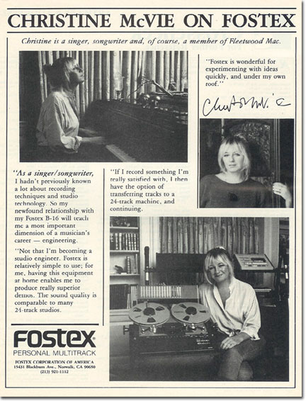 1986 ad for the Fostex B-16-Series reel tape recorder in the Reel2ReelTexas.com vintage recording collection