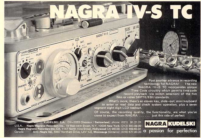 1986 ad for the Nagra IV-S TC in the Reel2ReelTexas.com vintage recording collection