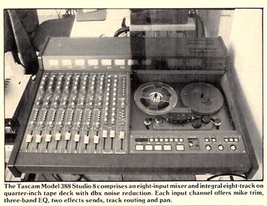 1986 ad Tascam 388 in Phantom Productions vintage tape recorder collection