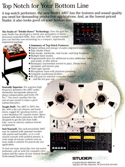 1978 ad for the Revox B77 reel to reel tape recorder in the Reel2ReelTexas.com vintage recording collection