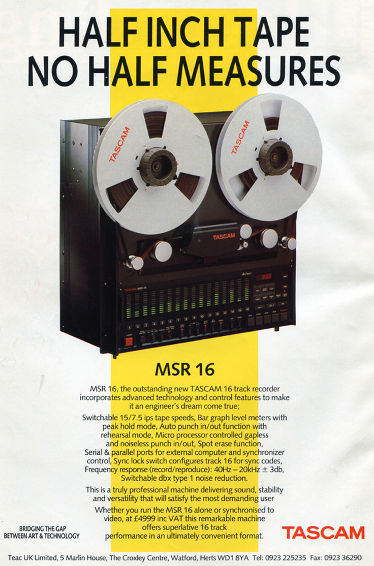 Tascam MSR-24 24 track professional reel tape recorder review in the Reel2ReelTexas.com vintage recording collection