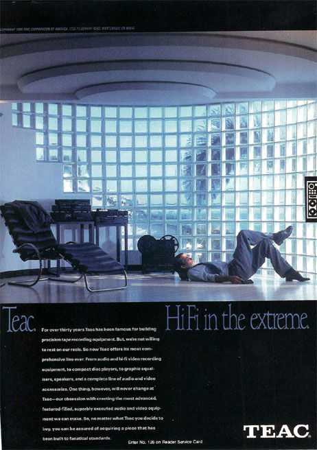 1988 Teac reel tape recorder ad  in the Reel2ReelTexas vintage recording collection