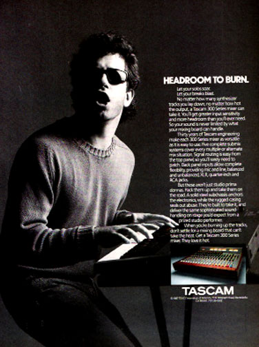 1988 ad for Tascam recording consoles in the Reel2ReelTexas.com vintage recording collection