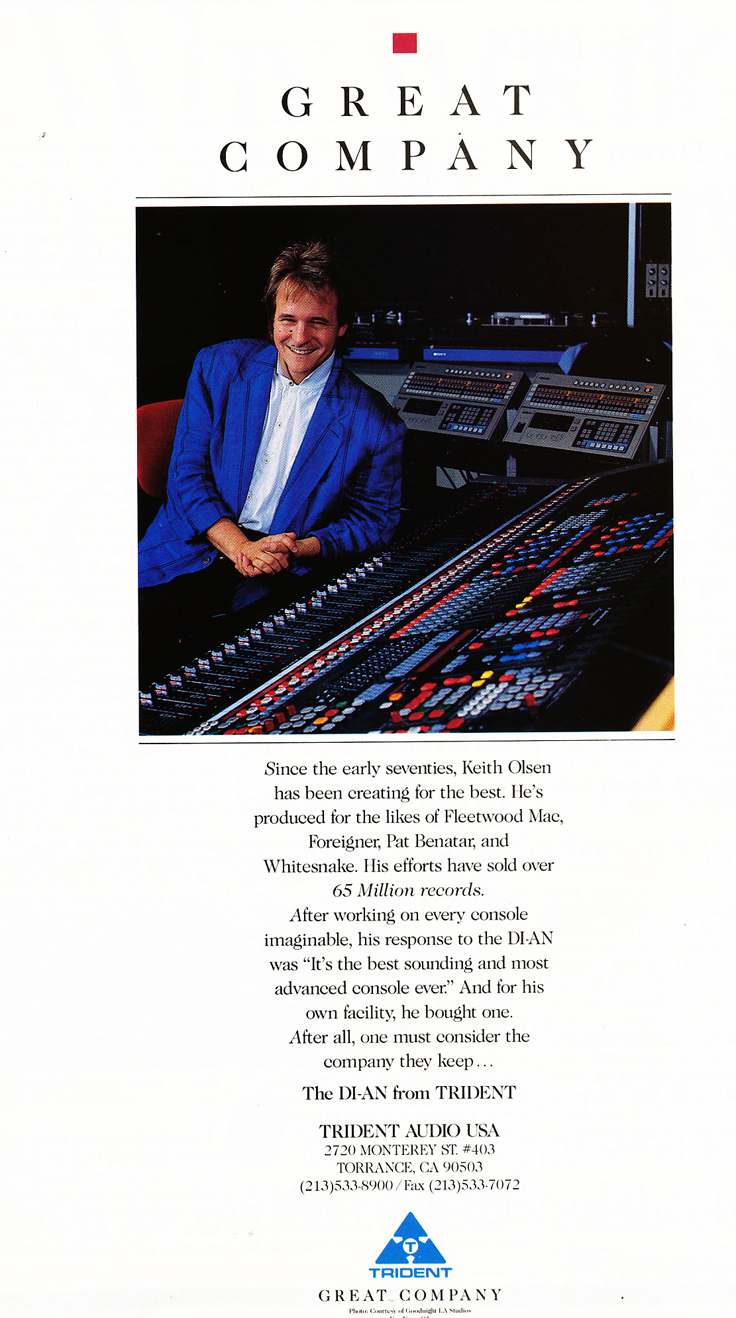 1988 Trident recording consoles in the Reel2ReelTexas.com vintage recording collection