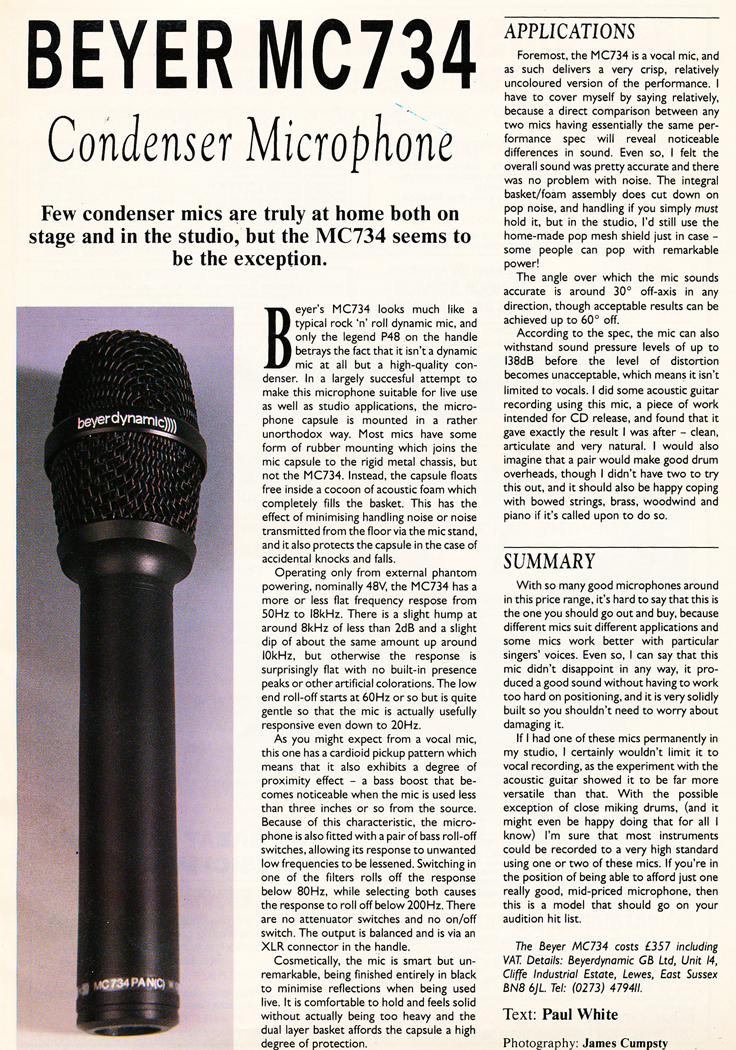 Beyerdybanic microphone ad in the Reel2ReelTexas.com vintage reel tape recorder recording collection
