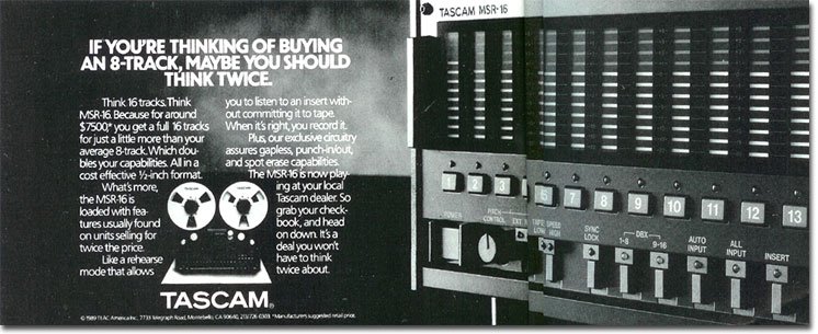1990 Tascam tape recorder ad in the Reel2ReelTexas vintage recording collection