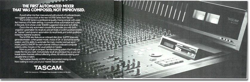 Tascam digital mixer ad from 1991