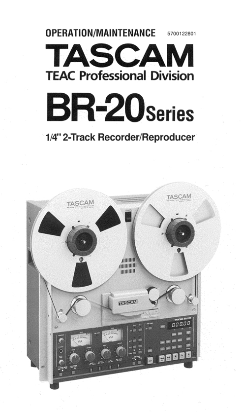 Tascam BR-20 reel to reel tape recorder in the Reel2ReelTexas.com vintage recording collection