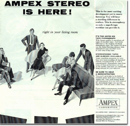 1955 Ampex Stereo Arrives ad  in the Reel2ReelTexas.com vintage recording collection