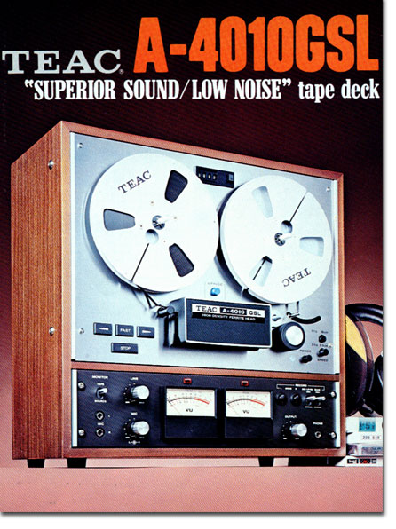 Ad for the Teac A-4010GSL reel to reel tape recorder in the Reel2ReelTexas.com vintage recording collection