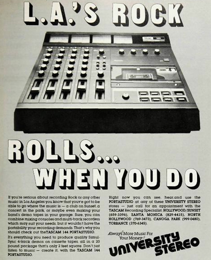 1980 ad for the Teac Porta Studio in the Reel2ReelTexas.com vintage recording collection vintage recording collection