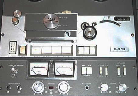 Akai X-355 reel to reel tape recorder in the Reel2ReelTexas.com vintage recording collection