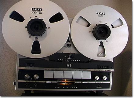 Akai X-300 reel to reel tape recorder in the Reel2ReelTexas.com vintage recording collection