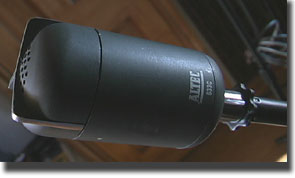 Altec 633C microphone in Museum of Magnetic Sound Recording's vintage microphone and recording equipment collection