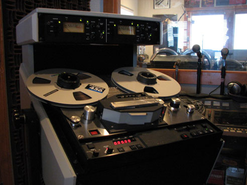 Ampex ATR800 in Phantom's vintage reel to reel tape recorder collection