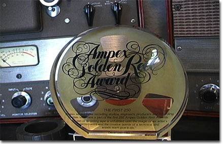 Ampex Golden Reel Award in the Reel2ReelTexas.com vintage recording collectioncollection