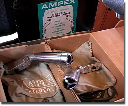 factory matched pair of Ampex microphones