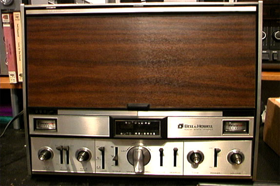 Bell & Howell 2297 reel tape recorder with vaccum loading in the Reel2ReelTexas.com reel to reel tape recorder vintage reel tape recorder recording collection