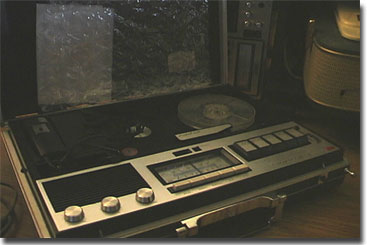 Akai briefcase recorder with radio