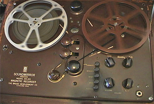 Brush BK 401 Sound mirror reel tape recorder in Reel2ReelTexas.com's vintage recorder collection