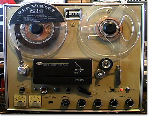 Phantom Productions' Concertone 505 reel tape recorder