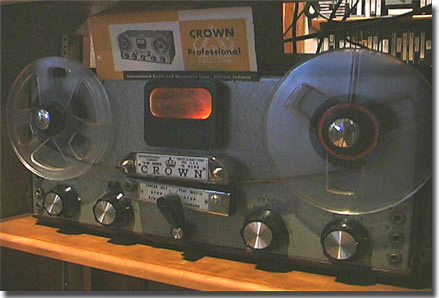 Crown 3M reel tape recorder in the Museum of magnetic Sound Recording