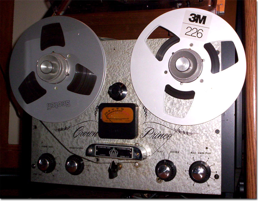 1958 Crown Prince professional reel to reel tape recorder in the Reel2ReelTexas.com vintage recording collection