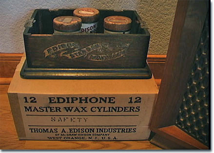 box of blank Edison cylinders from Ford Museum