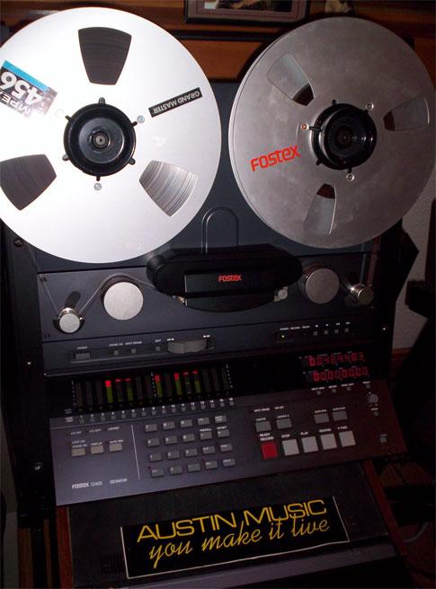 Phantom's Fostex G-16 16 track reel tape recorder