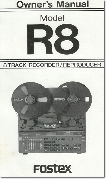 1989 ad for the Fostex R8 8 track reel tape recorder in the Reel2ReelTexas.com vintage recording collection