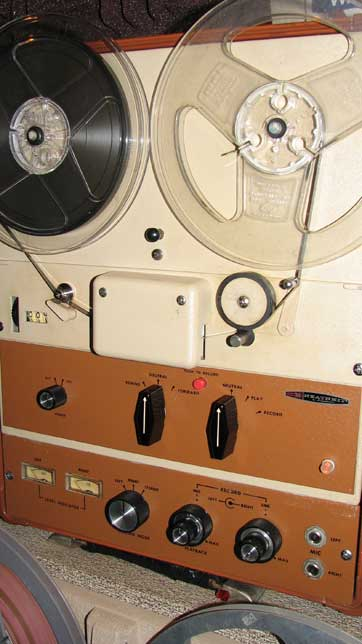 HeathKit reel to reel tape recorder in the Reel2ReelTexas.com vintage recording collection