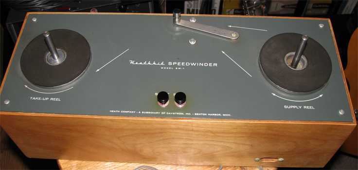 HeathKit Speedwinder to quickly wind 10.5 inch reel of recording tape in the Reel2ReelTexas.com vintage recording colection