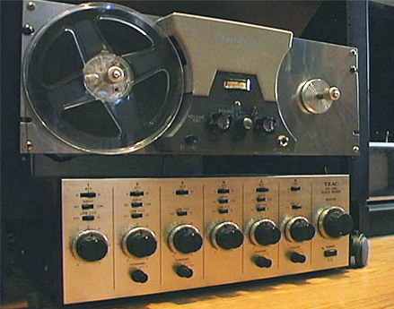 Teac An-300 & AX-300 in the Reel2ReelTexas.com vintage reel tape recorder recording collection