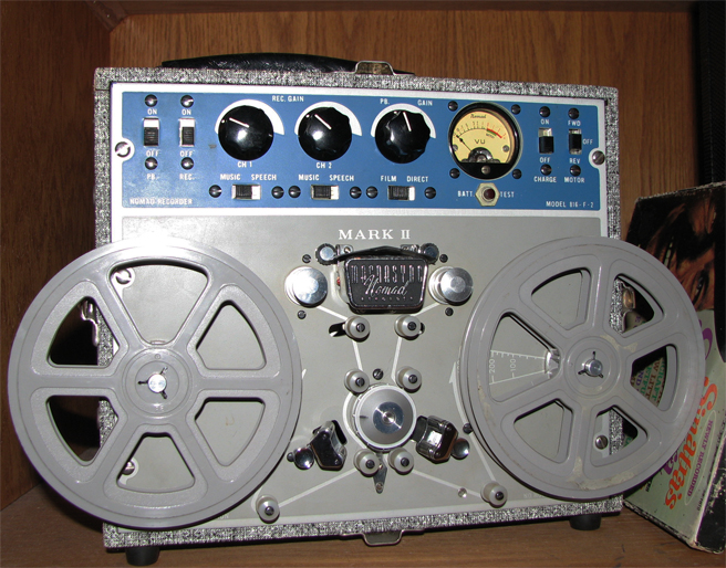 Magnephonis Magnesync Nomad film recorder in the Reel2ReelTexas.com vintage reel tape recorder recording collection
