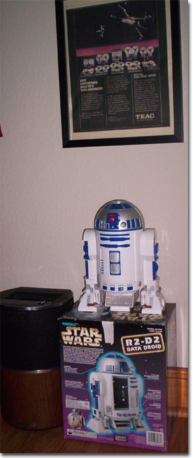 R2D2 Replica (complete with sounds.  Teac 80-8 was used to record te sounds of R2Dr and 3CPOin the Star Wars movie