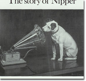 final painting of Nipper and the phonograph