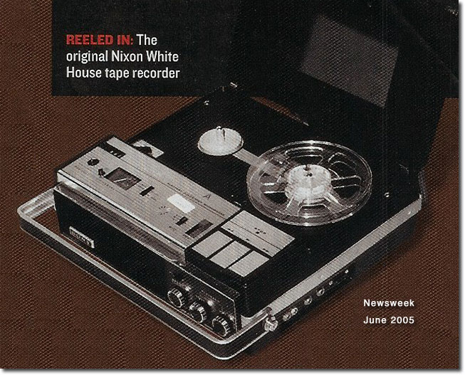 Sony used by Nixon from Newsweek, June, 2005