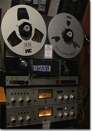 Otari 7500 reel tape recorder in the Reel2ReelTexas.com vintage recording collection